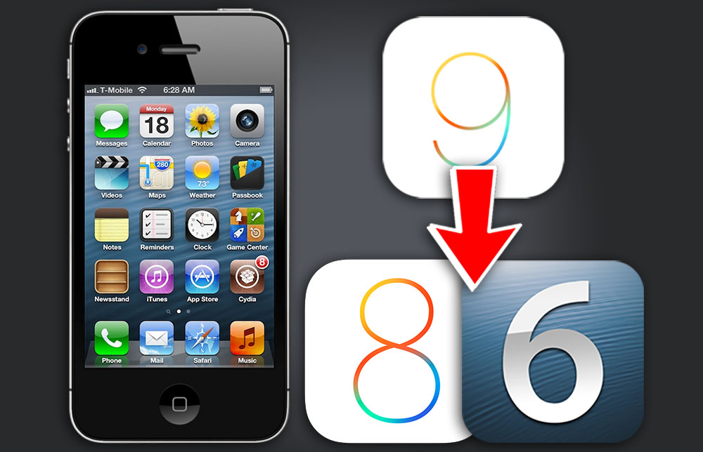 How to Downgrade iPhone 4s From iOS 9 3 5 to iOS 8 4 1 / iOS 6 1 3