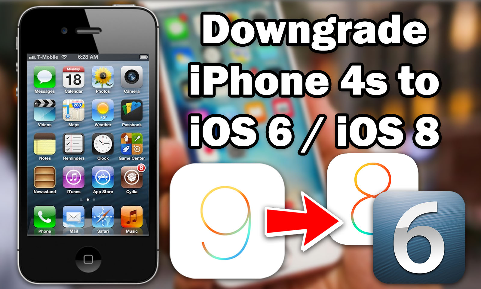 How to Downgrade iPhone 4s From iOS 9 3 5 to iOS 8 4 1 / iOS