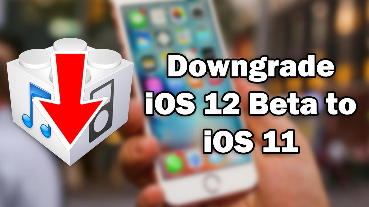 How to Downgrade iOS 12 beta to iOS 11 4 1 / 11 4 / 11 3 1